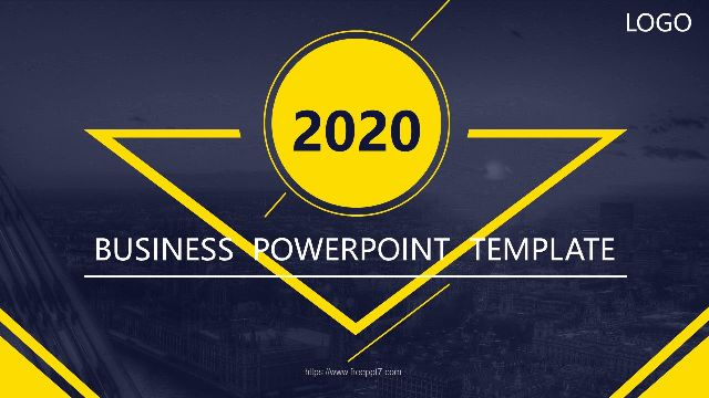 Gray Yellow Flat Business Power