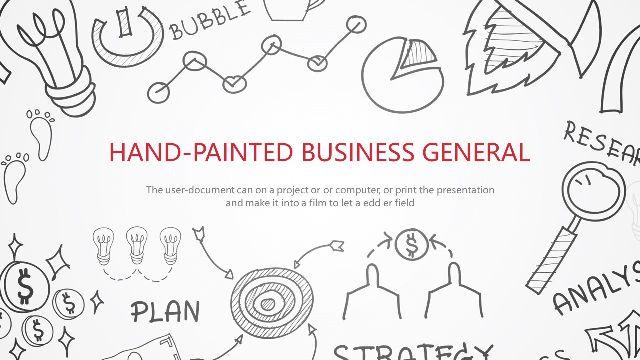 Hand drawn business profile Pow