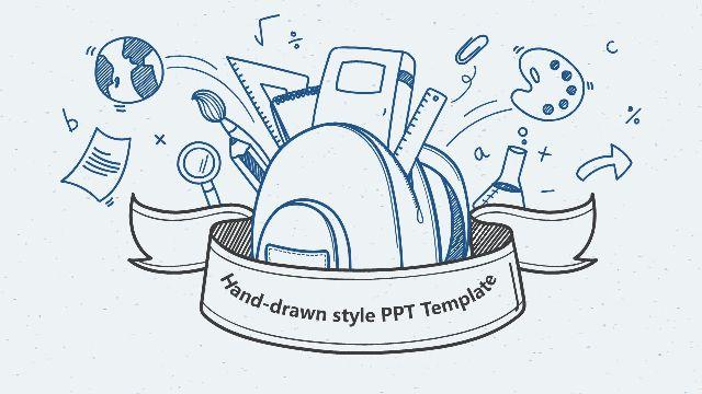 Hand drawn education theme Powe