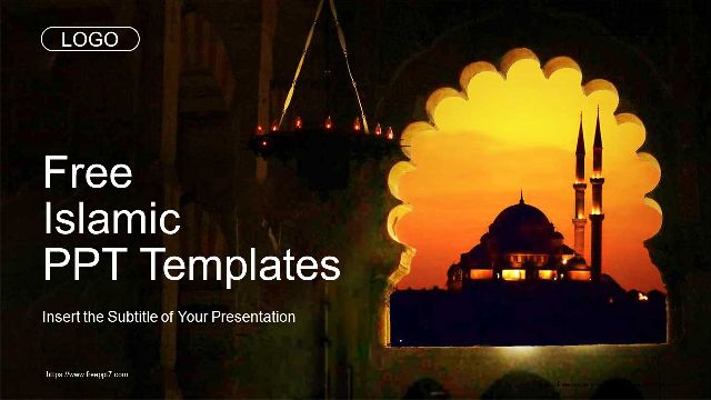 Islamic Mosque Sunset Powerpoint Templates Best Powerpoint Templates And Google Slides For Free Download
