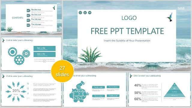 Seaside Scenery Business Powerpoint Templates Best Powerpoint Templates And Google Slides For Free Download